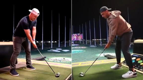 Whose tee shot was better: Trout or Bellinger?