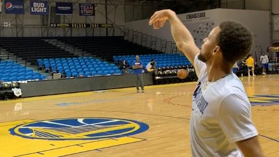 Curry drains jumpers during rehab with G League Warriors