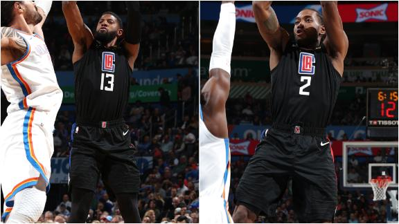Kawhi, PG combine for 41 in Clippers' 5th straight win