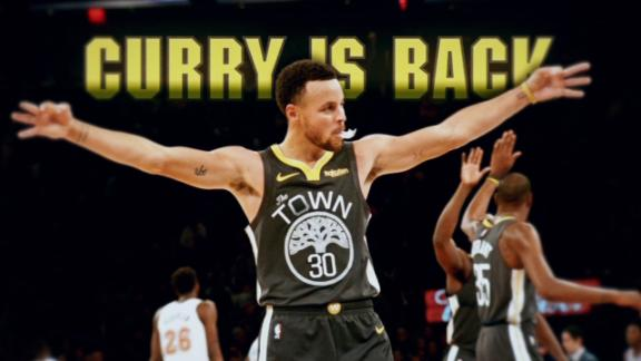 He's baaaacccckkkk! Check out the Curry highlights we've been missing