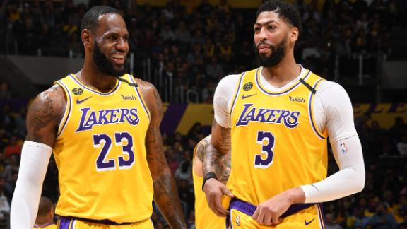 LeBron and AD combine for 59 as Lakers rout 76ers