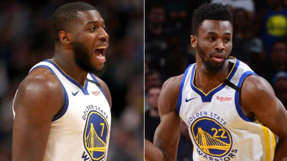 Wiggins, Paschall lead the Warriors' rally in a 16-point victory vs. Nuggets