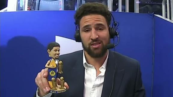 Klay breaks down all of his bobbleheads