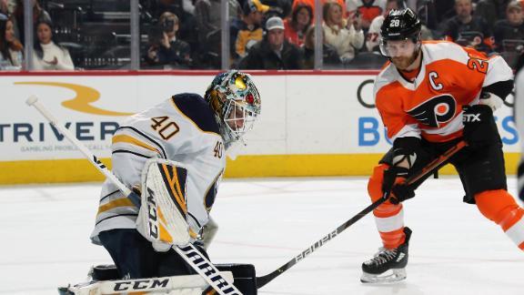 Giroux records 2 goals in Flyers' win vs. Sabres