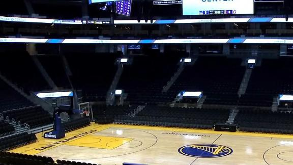 What are the ramifications of the Warriors playing without a crowd?