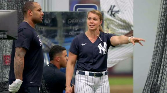 Rachel Balkovec is making history as a Yankees hitting coach