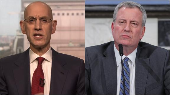Silver responds to New York Mayor de Blasio about tested players