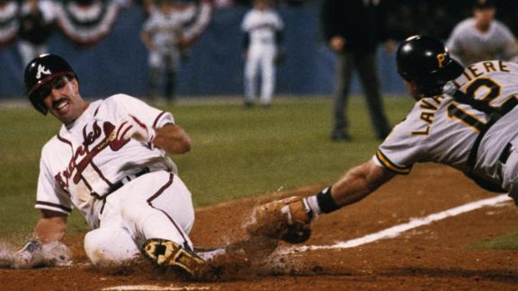 Braves win 1992 pennant on Sid Bream's slide