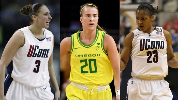 The greatness of Ionescu, Taurasi, Moore - check it out