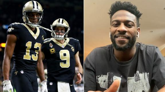 Sanders is excited to get to work with Brees and Thomas
