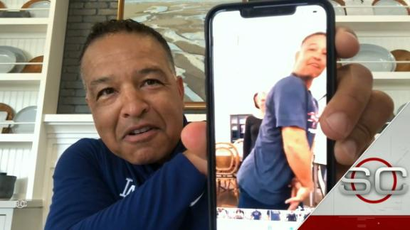 Dave Roberts shows off his family's TikTok