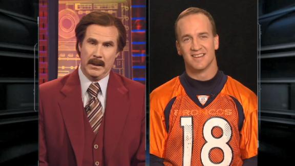 The time Ron Burgundy interviewed Peyton Manning