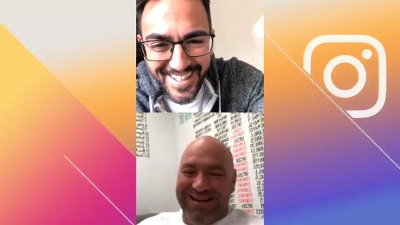 Dana White crashes Brett Okamoto's Instagram Live