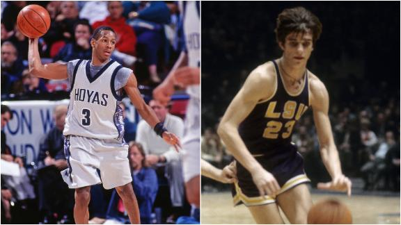 Who has the edge, Maravich or Iverson?