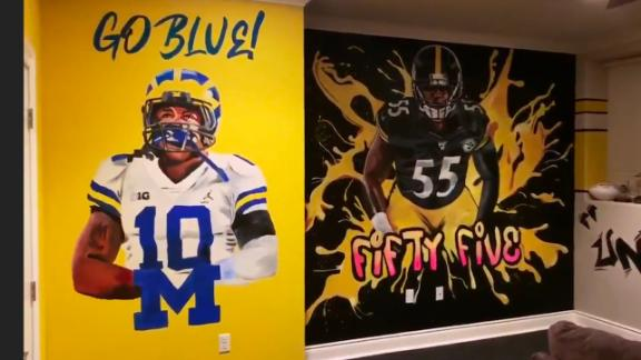Devin Bush's basement got a serious makeover