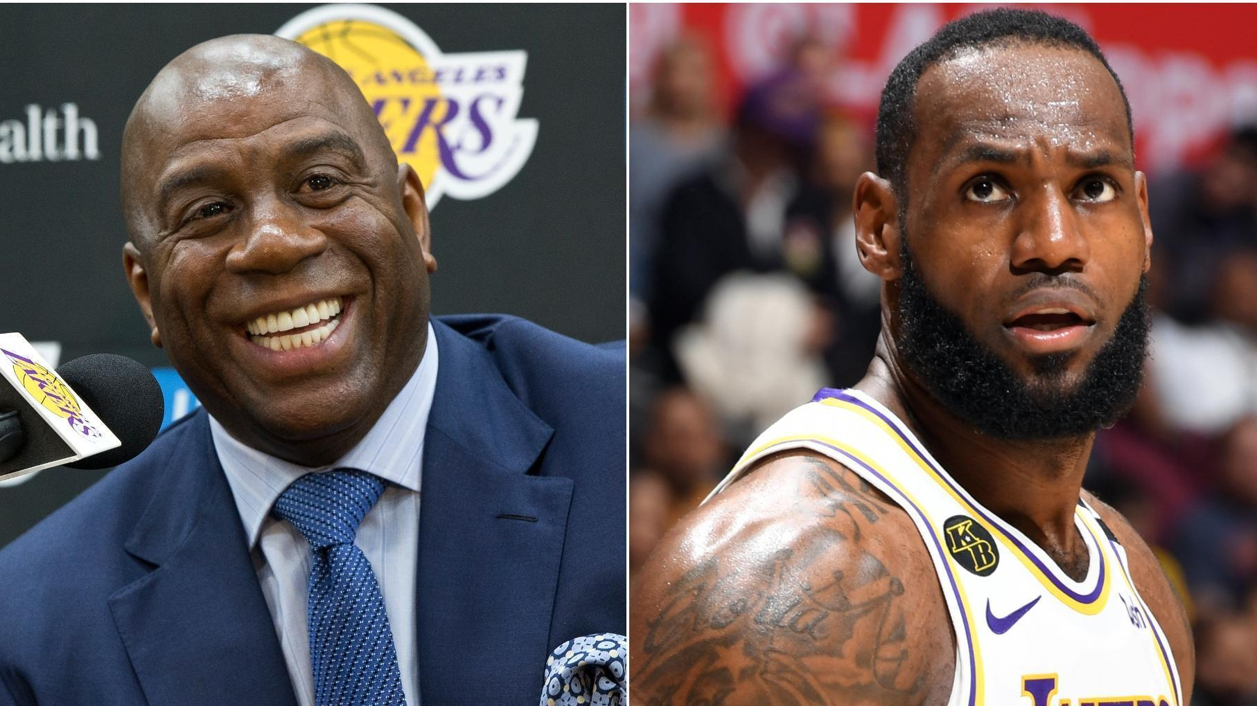 Magic Johnson states case for LeBron as the No. 1 player in sports