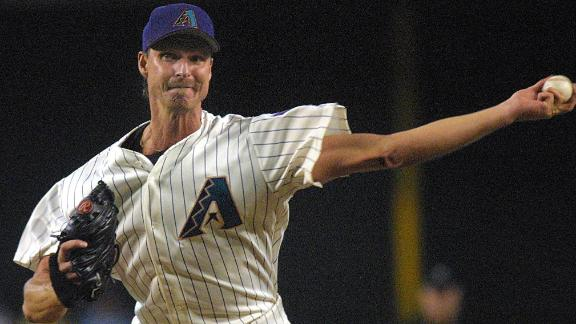 Randy Johnson punches out 20 batters