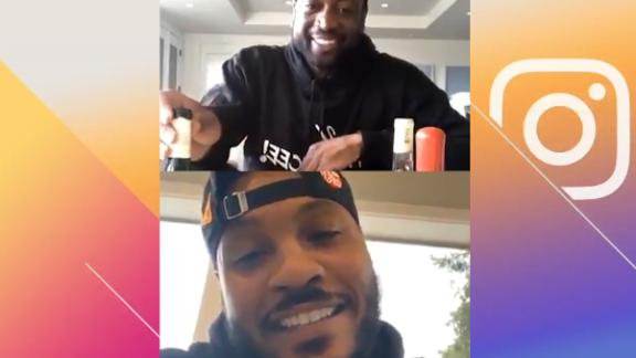 Melo tells story of LeBron saving him from drowning while on Banana Boat