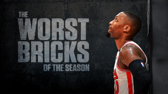 The worst bricks of the NBA season
