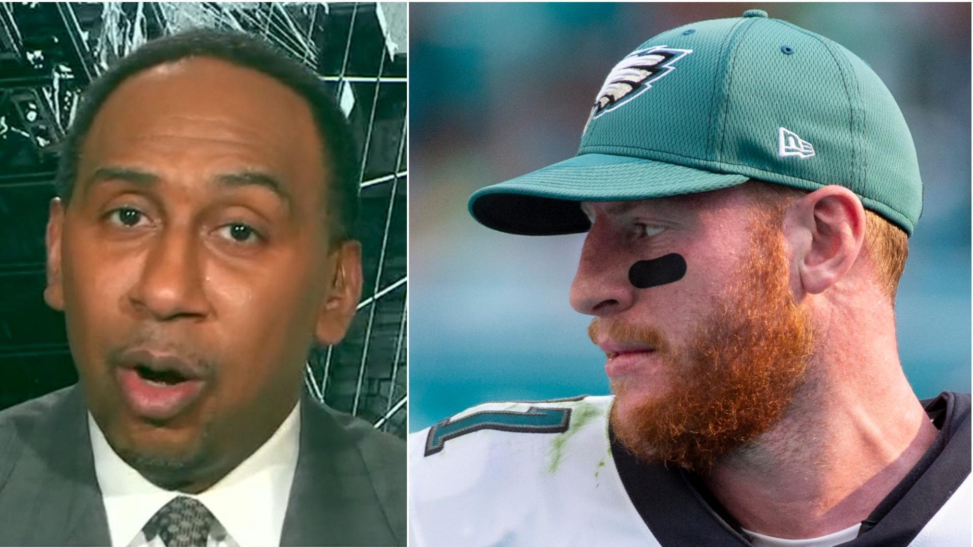 Why Stephen A. is 'sick to his stomach' for Carson Wentz