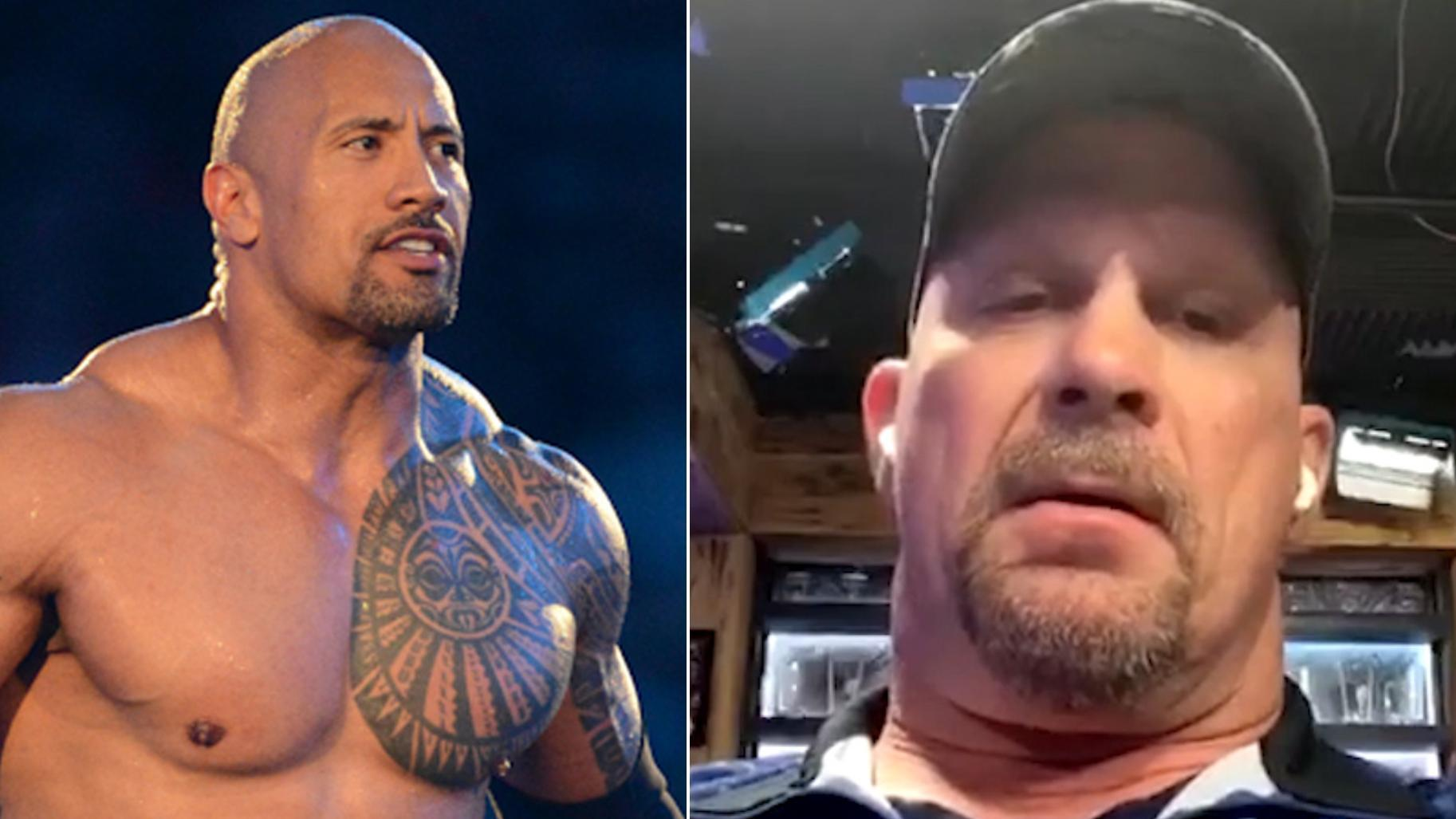 Stone Cold reflects on WrestleMania trilogy with The Rock