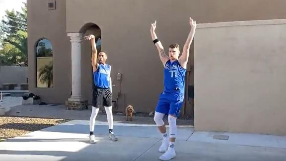 These impressions of Luka and Porzingis are priceless