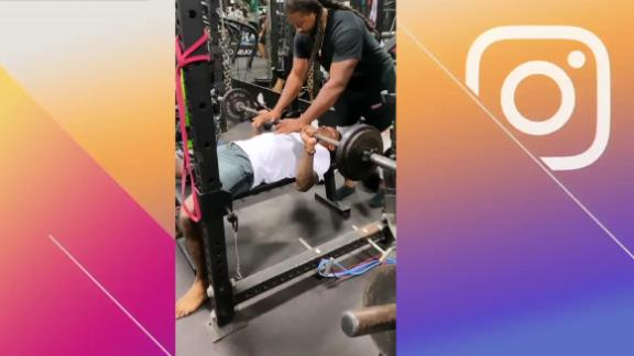 Diggs gets in a workout