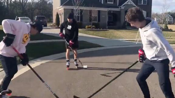 The Hughes brothers stay ready for hockey