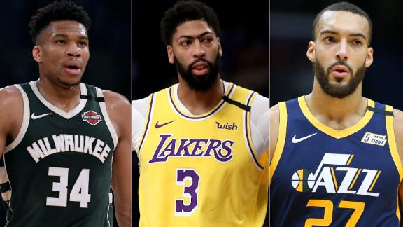 Giannis, AD, Gobert headline NBA All-Defense team