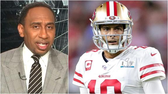 'Oh please,' Stephen A. shrugs off Jimmy G. elite talk