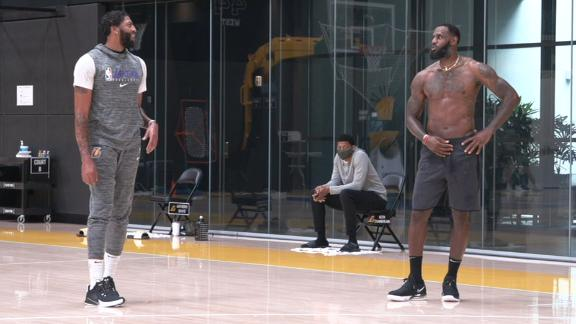 LeBron and AD back on the court together