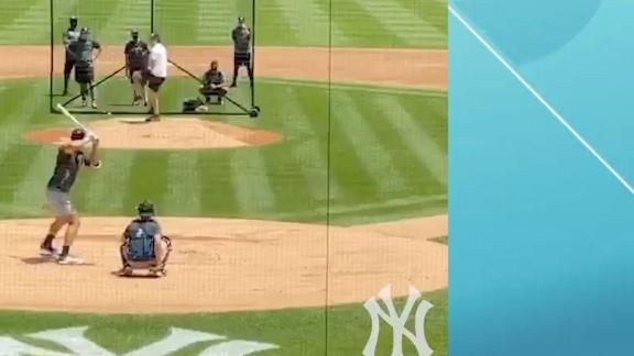 Judge and Cole back at it inside Yankee Stadium
