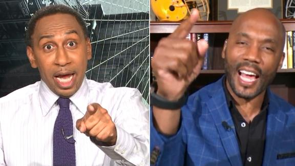 Stephen A. and Riddick go back and forth on Stidham vs. Cam
