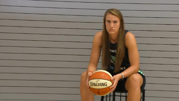 Go behind the scenes with Sabrina Ionescu