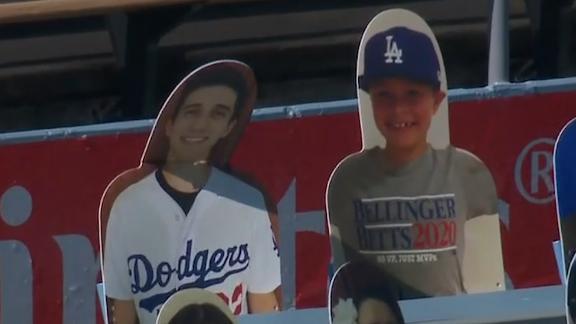 Dodgers fan wants HR ball that drilled his cardboard cutout