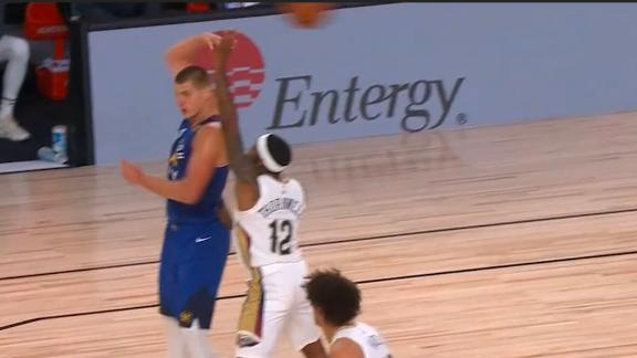 Jokic throws sweet no-look pass to Bol Bol