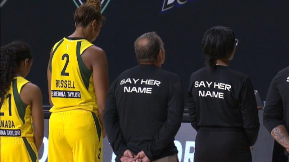 Storm, Liberty head to locker room before national anthem
