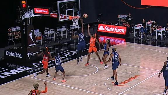 Fowles swats Charles' shot away