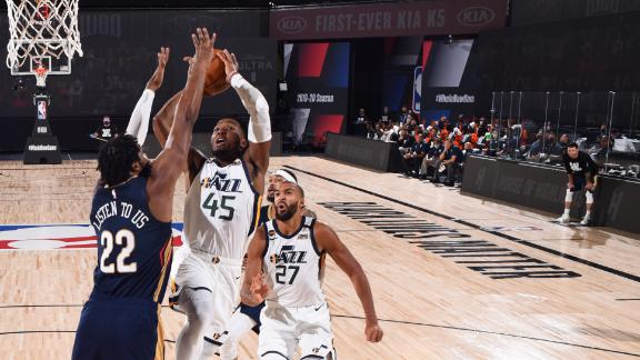 Mitchell, Gobert tag-team to defeat Pelicans as NBA resumes play