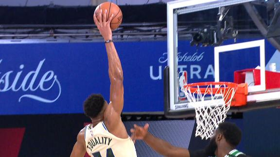 Giannis reaches out for Statue of Liberty slam
