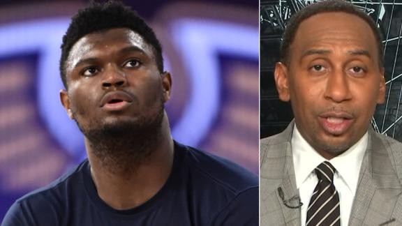 Stephen A. is disappointed Zion didn't play more