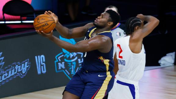 Zion Williamson scores seven points in loss to Clippers