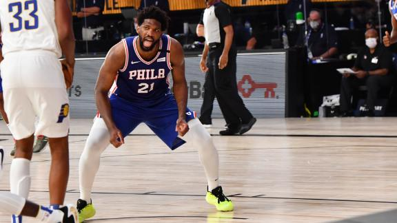 Embiid scores 41 in loss to Pacers