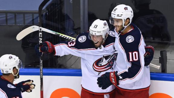Atkinson's goal gives Blue Jackets the lead for good