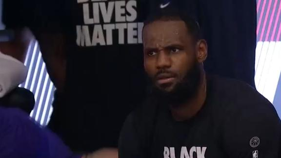LeBron receives technical foul from bench