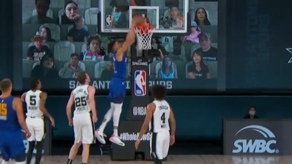 Jokic feeds Porter for dunk