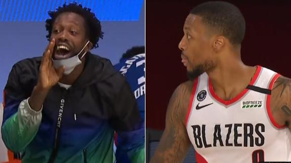 Lillard trolls Clippers early; Beverley gets last laugh