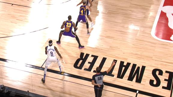 Holiday inbounds off of LeBron's back
