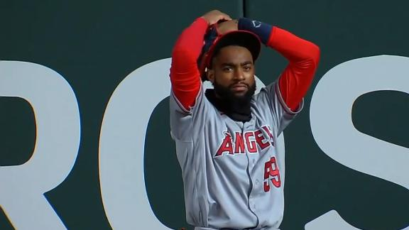 Jo Adell's outfield blunder gives Rangers a four-base error