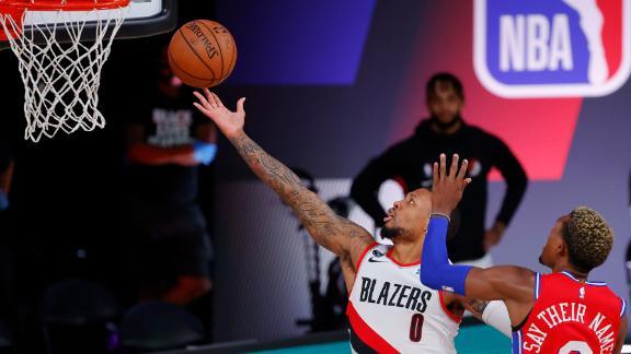 Lillard drops 51 in Trail Blazers' close win over 76ers